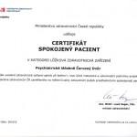 Certifikát Spokojený pacient - lůžková zařízení